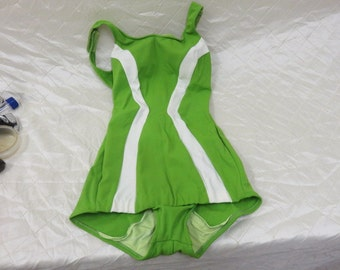 1950s Cole of California Green/White Swimsuit