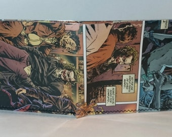 joker 11 - recycled comic book wallet - slim wallet - hanmade wallet - card holder - thin wallet - vinyl wallet - men's wallet