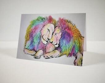 Rainbow Lions Card