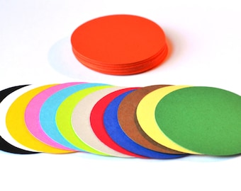 """Circle Die Cuts - Set of 50 - All sizes and colors - Round Die Cuts - Paper Circles - Round - Circles - Die Cuts - 2"""" - 3"""" - 4"""""""