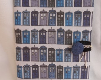 Handmade Reusable A6 Doctor Who Tardis Notebook, with lined notebook