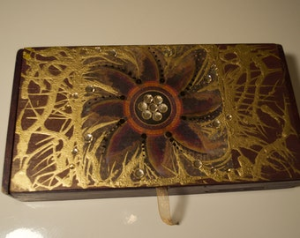 Hand-Painted Wooden Box