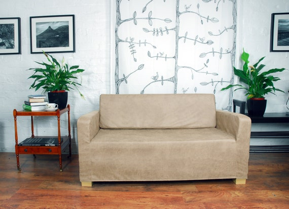 Ikea Solsta Sofa Bed Cover In Vintage Distressed Leather Look