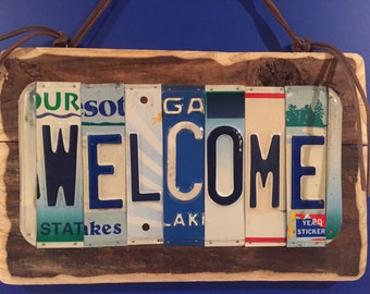 License plate art WELCOME