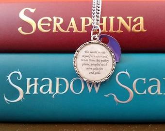 Seraphina Book Quote Necklace