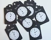 24 Clock Tags - Around The Clock Shower