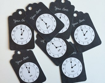 24 Clock Tags - Around The Clock Shower