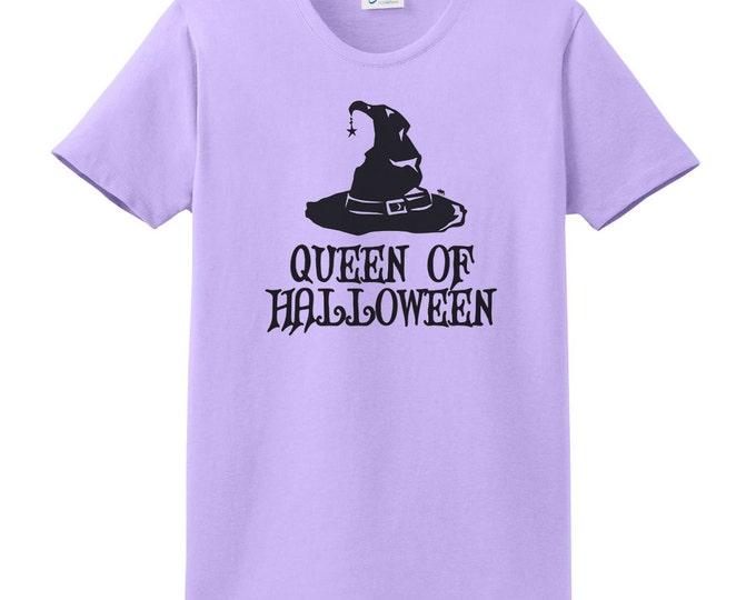 Queen of Halloween Witches Hat T-Shirt - Witches T-Shirt