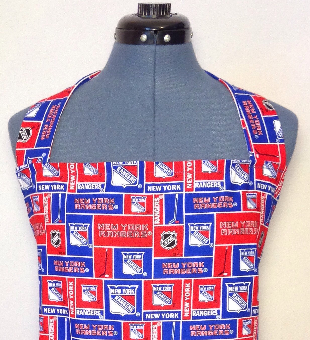 New York Rangers Full Size Bbq Apron With Pockets