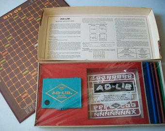 Ad-Lib Crossword Game 1970, Sealed Complete Crossword Word Play Board Game, E.S. Lowe Company New York