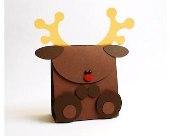 "plotterdatei - ""reindeer"" gift bag"