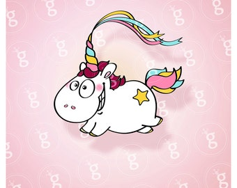 "Digi stamp ""unicorn"""