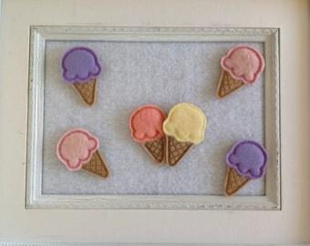 Ice Cream Cone , Your Color Choice, Always Precut