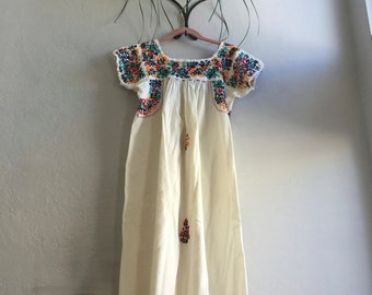 Embroidered Maxi Style Dress