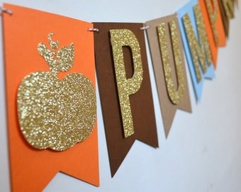Little Pumpkin Banner Little Pumpkin Baby Shower Banner Little Pumpkin Birthday Party Banner Fall Birthday Decor Rustic