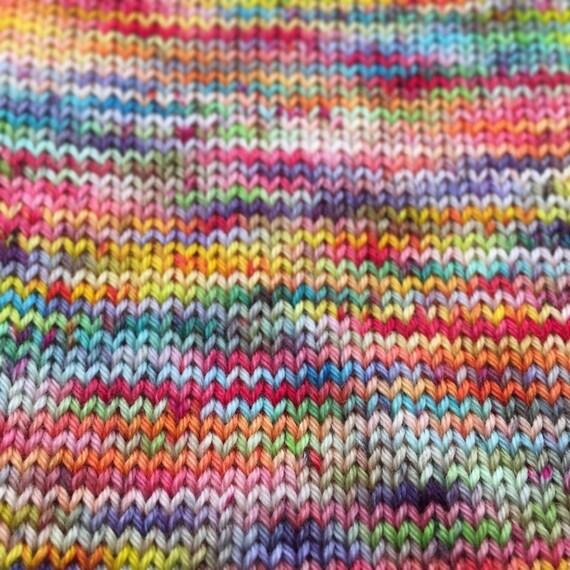 4 Ply Sock Yarn Rainbow Sherbet Dyed To Order By Bykateselene