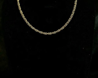 """20"""" Gold Colored Micro-Byzantine Necklace"""