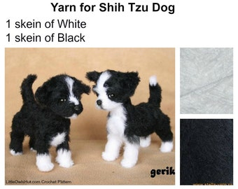 Yarn to make 1 Shih Tzu Dog, yarn Hlopok (Khlopok) Travka (Хлопок Травка)