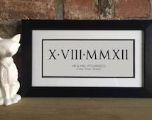 Unique Roman Numerals Art Related Items Etsy