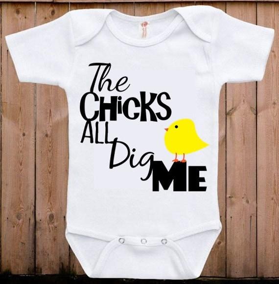 Chicks All Dig Me Boys T-Shirt Easter Basket Spring SVG File