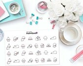 KAWAII LAMBS / SHEEP Paper Planner Stickers!