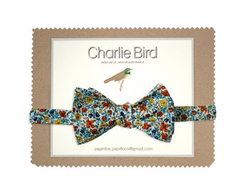 "Flowered bow tie ""Summer Laredo"""