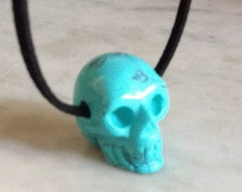 Skull on an Adjustable Suede Cord