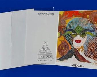 CAPRICORN- Zodiac Greeting Card - 5X7