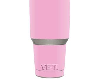 Skin Decal Wrap for YETI RTIC Ozark Trail 30oz Rambler Tumbler sticker skins Solid Pink