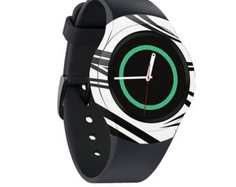 Skin Decal Wrap for Samsung Gear S2, S2 3G, Live, Neo S Smart Watch, Galaxy Gear Fit cover sticker Tribal Slices