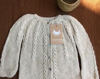 Alpaca Sweater, Alpaca Cardigan, Baby Cardigan, Hand knitted Cardigan