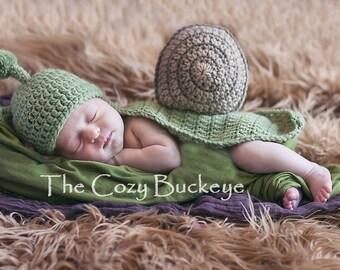 Snail Hat & Cape Newborn Photography Prop