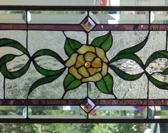 Stained Glass Window Hanging 28 X 12