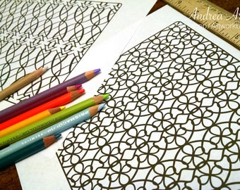 Pattern Coloring Pack #1 - 6 PDF Pages