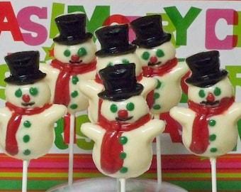 Snowman Lollipops 6 Pack