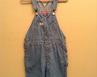 denim overalls (shorts)