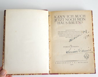 MUTHESIUS German book edition 1920, ancient book on architecture, hardcover