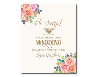Printable Wedding Sign for Instagram, Hashtag Sign, Social Media Sign, Printable Wedding Sign, Printable Sign for Instagram #CL173