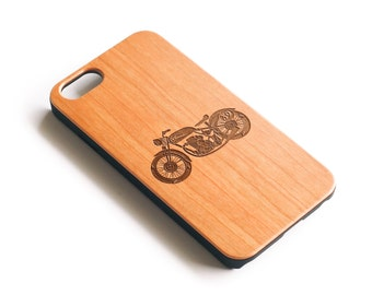 iPhone 6, Real Wood, Phone Case, iPhone 6S Case, iPhone 6 Plus, iPhone 6 Plus Cases, iPhone 6S Case,Cafe Racer, Cherry Wood, Gift