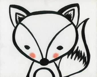 Baby Fox Printable art