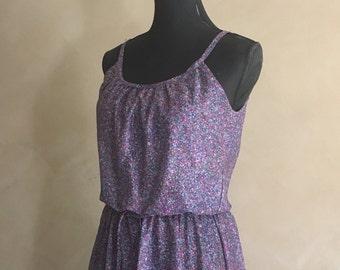 Vintage 70's Floral lightweight Flowy Dress