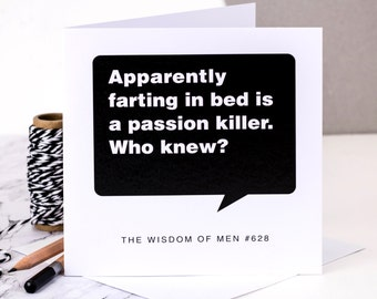 Funny Birthday Card For Men; 'Passion Killer'; Birthday Card For Husband; Birthday Card For Boyfriend; Card For Him; GC107