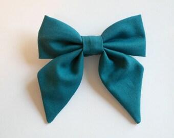 Teal Blue Sailor Bow