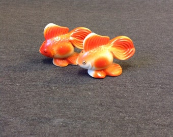 Vintage Goldfish ceramic Salt & Pepper Shaker Set