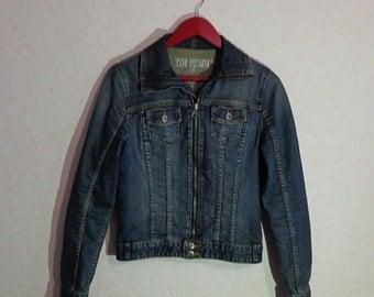 Women Jean Jacket ZOI Denim Jacket Zipper Lock,Medium Size