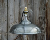 Vintage antique zinc coolicon ceiling light vented hanging lamp shade factory industrial zcg3