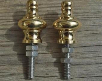 A pair of superb quality antique brass furniture clock finials Z2