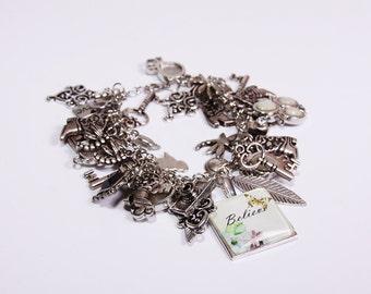 Believe Charm/Junk Bracelet