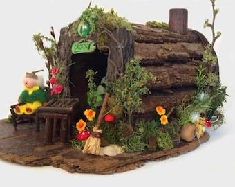 Handmade  elf house