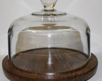 Vintage Dessert Plate with Covered Lid Dish